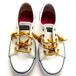 Seacoast Sperry White Leather Shoes